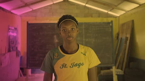 The 16-year-old Jamaican sprinter following Usain Bolt to Olympic glory