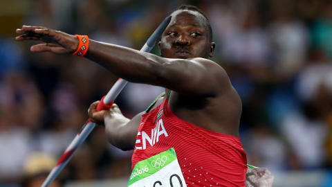 Julius Yego showing off unknown talent