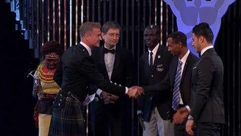 Refugee team recognised at Laureus Awards