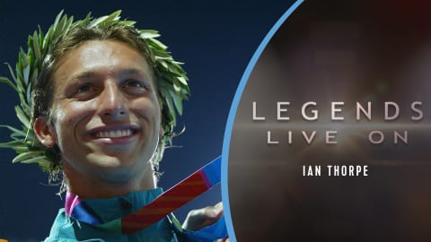 L'Australien Ian Thorpe (long)