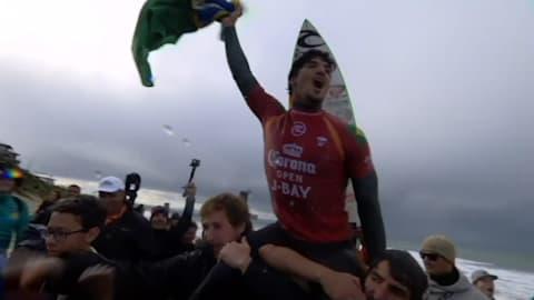 Großer Sieg für Gabriel Medina im Qualifikationsrennen für Tokio 2020