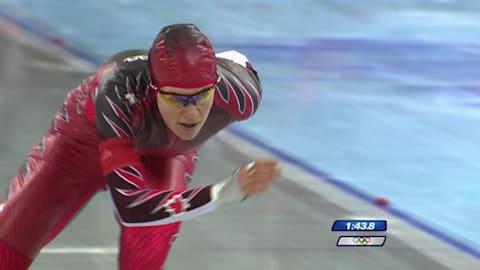 固执引领修斯赢得个人首块速度滑冰金牌