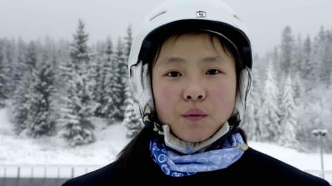WATCH: Chinese trainee ski jumpers tackle snow for first time in Norway