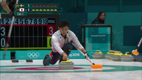 SWE v JPN (Round Robin) - Men's Curling | PyeongChang 2018 Replays