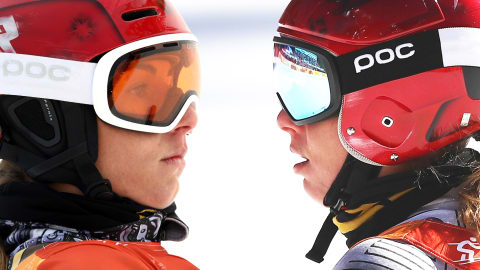 Golden girl Ledecka slaloms to unique double