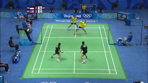 Insane 34-shot badminton rally in Beijing