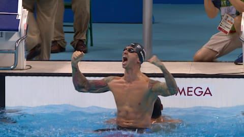 アメリカ代表アービンが男子50m自由形で金を獲得