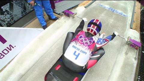 A corrida mais rápida de Christopher Mazdzer em Sochi