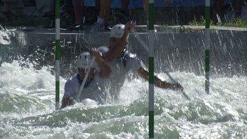 Peter and Pavol Hochschorners, canoe slalom C2 Gold Medal| Beijing 2008