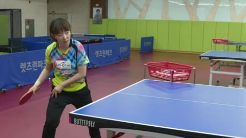 Table Tennis: How to forehand drive and backhand chop