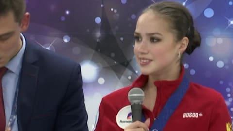World Champs leader Zagitova thanks coaches