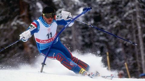 Alberto Tomba's gold medal slalom run | Calgary 1988