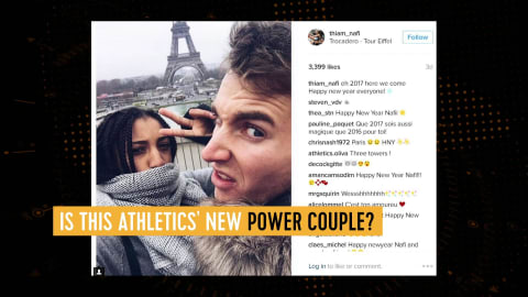 Is this the new athletics power couple?