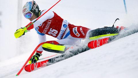 남자 슬랄롬 (런 1)   FIS 월드컵 - 레비