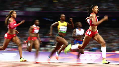 리플레이: 펠릭스, 런던에서 여자 200m 금메달 획득