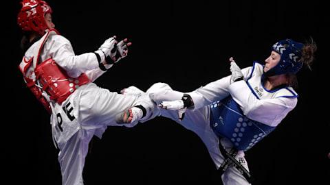 Semis kyorugui por equipo (MyF)| Taekwondo - Universiada de Verano - Nápoles