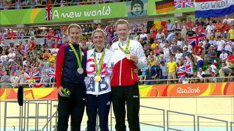 Women's Omnium Points Race | Rio 2016 Replays