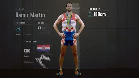조정선수의 해부학: 마르틴의 다리는 다른 선수보다 훨씬 강할까?