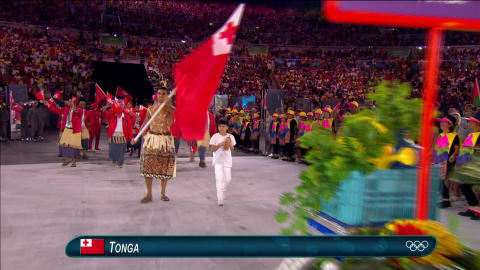Tongan flag-bearer's oiled torso sparks social media frenzy