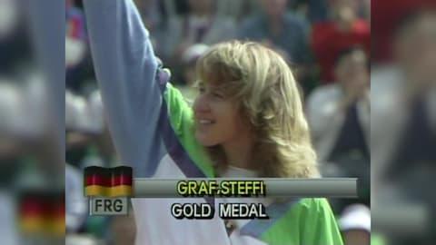 Steffi Graf wins the Golden Slam at Seoul 1988