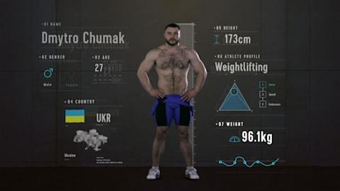 Anatomía de un halterófilo: ¿cuáles son las fortalezas de Dmytro Chumak?