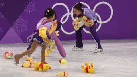 Yuzuru Hanyu puts the 'win' into Winnie the Pooh!