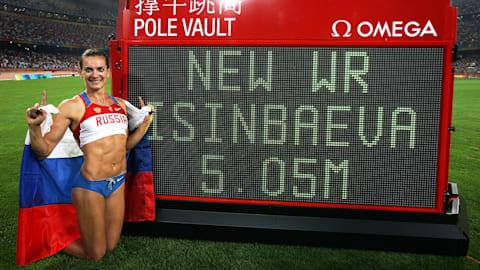 Isinbayeva stellt neuen Weltrekord im Stabhochsprung auf