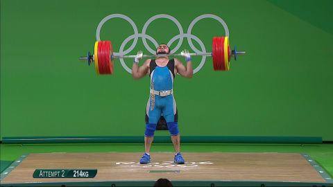 Rahimov's dance of delight after record-breaking gold