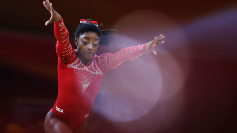 Simone Biles wins fourth floor gold, Zou Jingyuan sublime on parallel bars