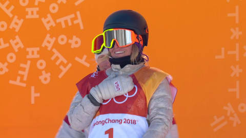 Anderson defends title in Women's Slopestyle with great 1st run | Snowboard
