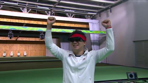 El coreano Jin gana su tercer oro consecutivo en pistola de 50 m