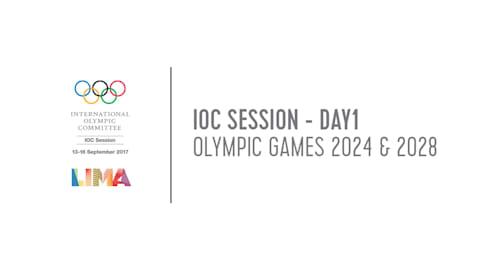 Sessione CIO – Giornata 1: Giochi Olimpici 2024 e 2028