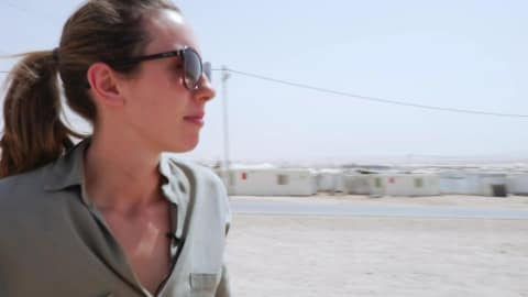 Modern Pentathlete Samantha Murray (GBR) x Zaatari Refugee Camp in Jordan