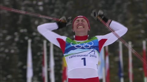 Justyna Kowalczyk in the 30km in Vancouver 2010