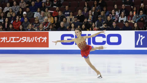 Quad-jumping Anna Shcherbakova steals show at Skate America