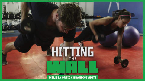 Buff Dude @Brandon_Myles tackles Melissa Ortiz's soccer workout