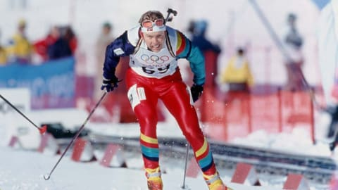 Biathlon pays respects to triple Olympic champ Halvard Hanevold