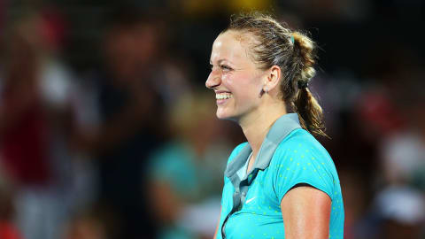 Quickfire: Thoughts of home comforts keep Kvitova smiling