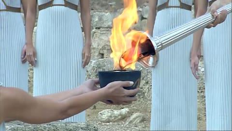 Sie brennt! Die olympische Flamme ist auf dem Weg nach PyeongChang
