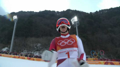 Gisin claims Women's Combined Gold with great Slalom Run | Alpine Skiing