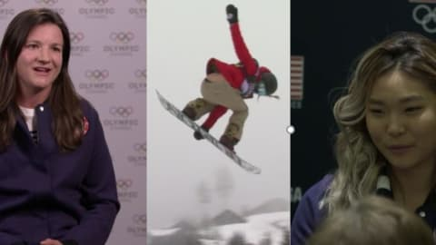 She tugged Kelly Clark's sleeve aged 8 and is now her biggest rival!