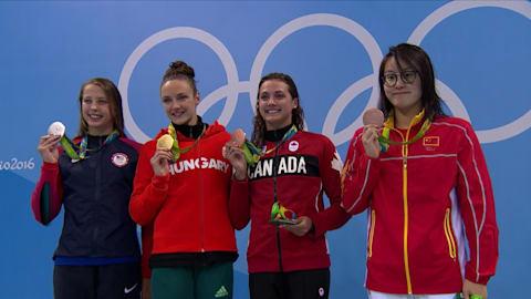 100m Back marks second gold for Hungary's Hosszu