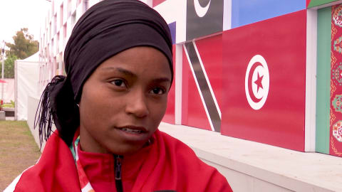 Tunisian weightlifter shares powerful message