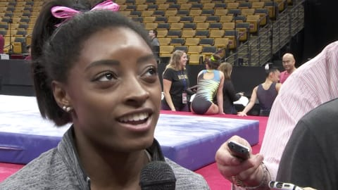 Biles feels the pressure ahead of U.S. Champs