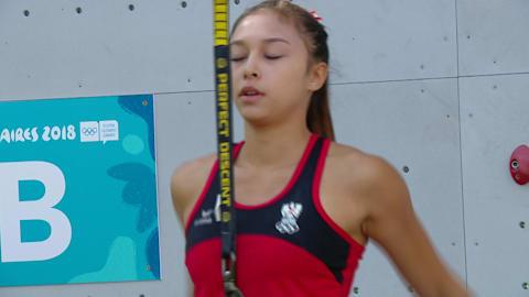 여자 스피드 결승 - 스포츠 클라이밍 | YOG 2018 하이라이트