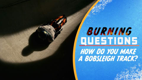 How do you make a bobsleigh track?