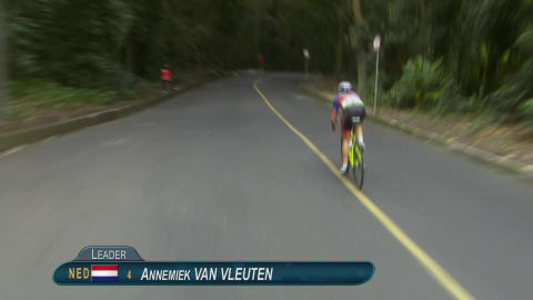 Replay: Annemiek van Vleuten crashes while leading Rio 2016 road race