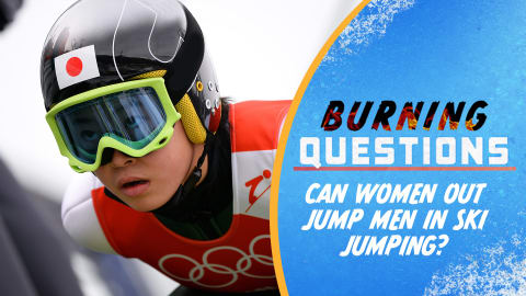 Can women out jump men in ski jumping?