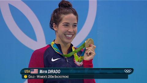 리우 리플레이: 여자 수영 200m 배영 결승