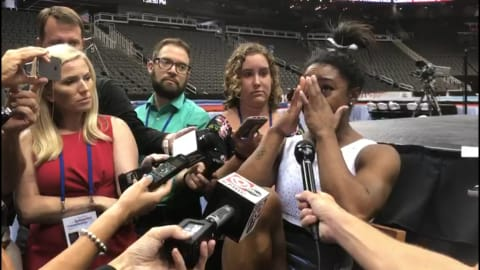 Biles breaks down: